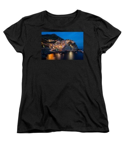 Women's T-Shirt (Standard Cut) featuring the photograph Manarola by Mihai Andritoiu