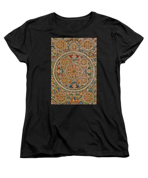 Mandala Of Heruka In Yab Yum And Buddhas Women's T-Shirt (Standard Cut) by Lanjee Chee