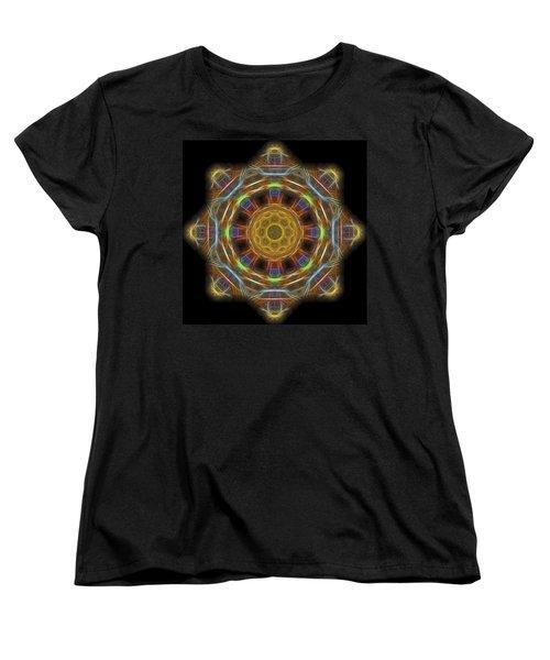 Mandala Of Light 1 Women's T-Shirt (Standard Cut) by William Horden