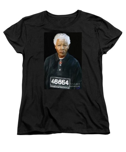 Women's T-Shirt (Standard Cut) featuring the digital art Mandela by Vannetta Ferguson