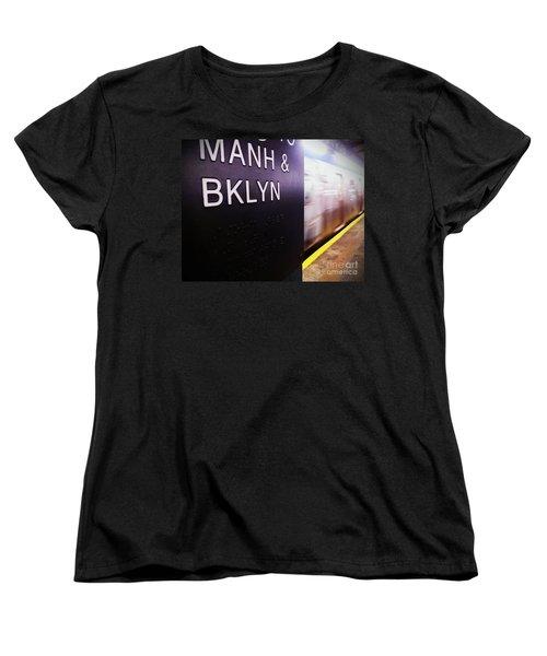 Women's T-Shirt (Standard Cut) featuring the photograph Manhattan And Brooklyn by James Aiken