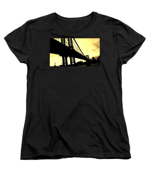 Manhattan Bridge Women's T-Shirt (Standard Cut) by Paulo Guimaraes