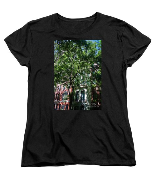 Women's T-Shirt (Standard Cut) featuring the photograph Manhattan Upper East Side Late Summer by Andy Prendy