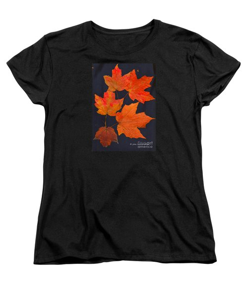 Women's T-Shirt (Standard Cut) featuring the photograph Maple Leaf Tag II by Joan Hartenstein