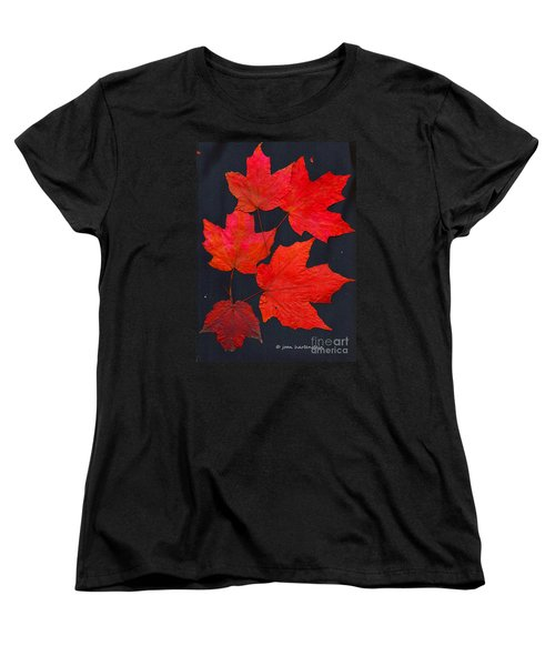 Women's T-Shirt (Standard Cut) featuring the photograph Maple Leaf Tag by Joan Hartenstein