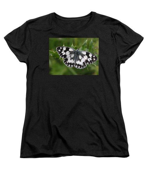 Marbled White Women's T-Shirt (Standard Cut) by Ron Harpham