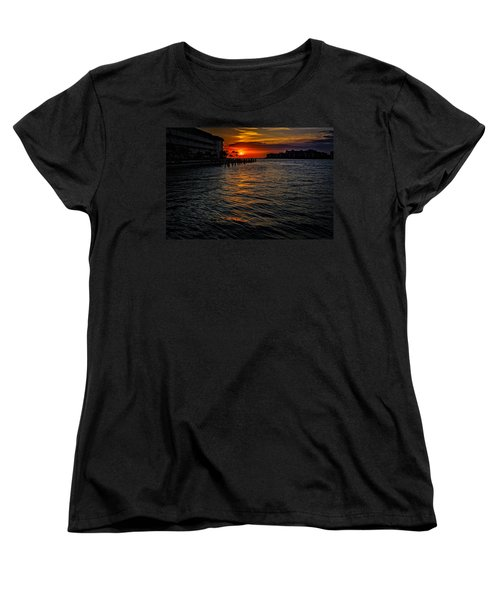 Women's T-Shirt (Standard Cut) featuring the photograph Marco Island Sunset 43 by Mark Myhaver