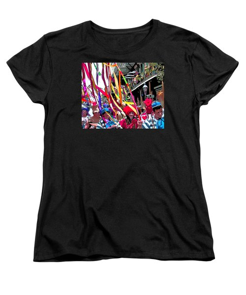 Mardi Gras Marching Parade Women's T-Shirt (Standard Cut) by Luana K Perez