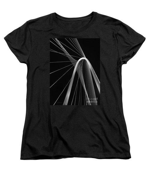 Margaret Hunt Hill Bridge Dallas Texas Women's T-Shirt (Standard Cut) by Robert ONeil