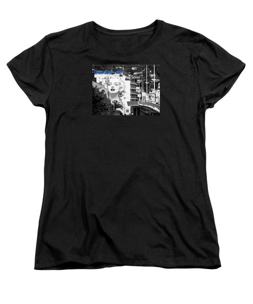Women's T-Shirt (Standard Cut) featuring the photograph Marilyn In Cannes by Jennie Breeze