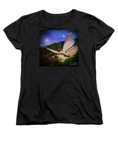 Mariposa Galactica Women's T-Shirt (Standard Cut) by Lilliana Mendez