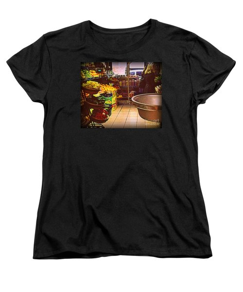 Women's T-Shirt (Standard Cut) featuring the photograph Market With Bronze Scale by Miriam Danar