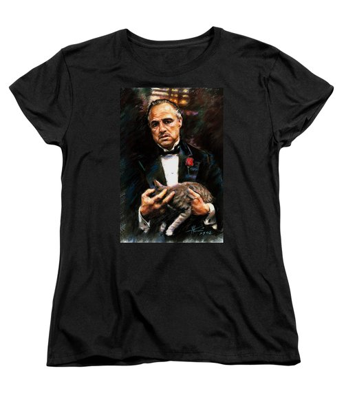 Marlon Brando The Godfather Women's T-Shirt (Standard Cut) by Viola El