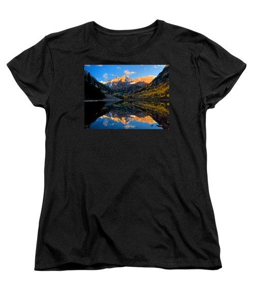 Maroon Bells Landscape Women's T-Shirt (Standard Cut) by Ronda Kimbrow