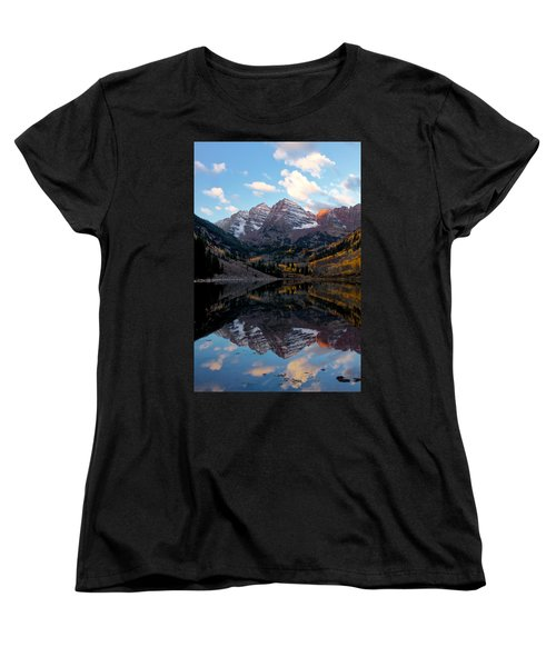 Women's T-Shirt (Standard Cut) featuring the photograph Maroon Bells by Ronda Kimbrow