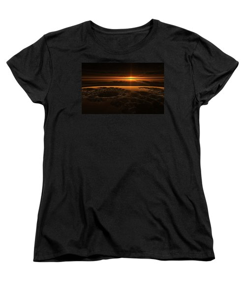 Marscape Women's T-Shirt (Standard Cut) by GJ Blackman
