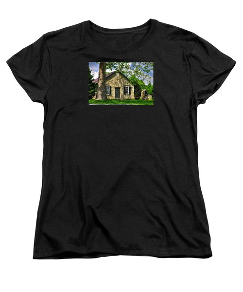 Maryland Country Churches - Fairview Chapel-1a Spring - Established 1847 Near New Market Maryland Women's T-Shirt (Standard Cut) by Michael Mazaika