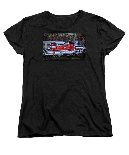 Matt Allen In Saugatuck Michigan Women's T-Shirt (Standard Cut) by Evie Carrier