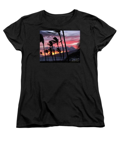 Maui Sunset Women's T-Shirt (Standard Cut) by Peggy Hughes