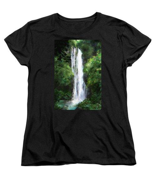Maui Waterfall Women's T-Shirt (Standard Cut) by Susan Kinney