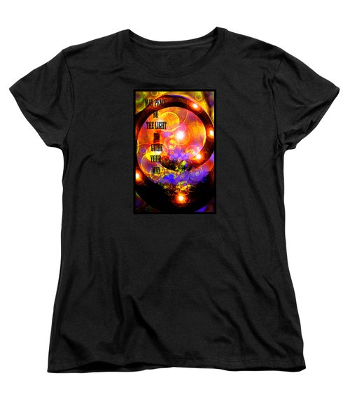 Women's T-Shirt (Standard Cut) featuring the photograph May Peace Be The Light To Guide Your Way by Susanne Still