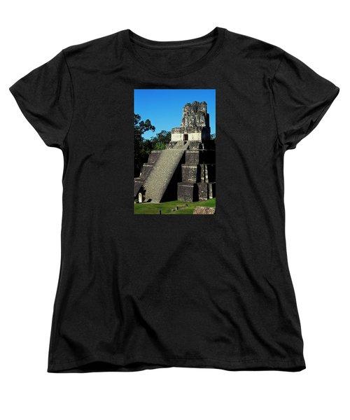 Mayan Ruins - Tikal Guatemala Women's T-Shirt (Standard Cut) by Juergen Weiss