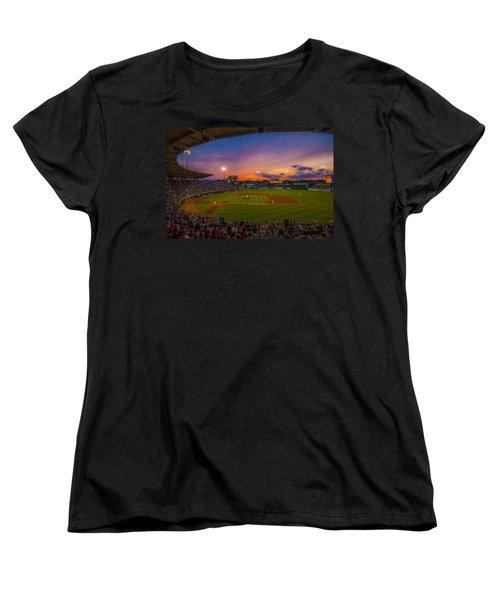 Mccoy Stadium Sunset Women's T-Shirt (Standard Cut) by Tom Gort