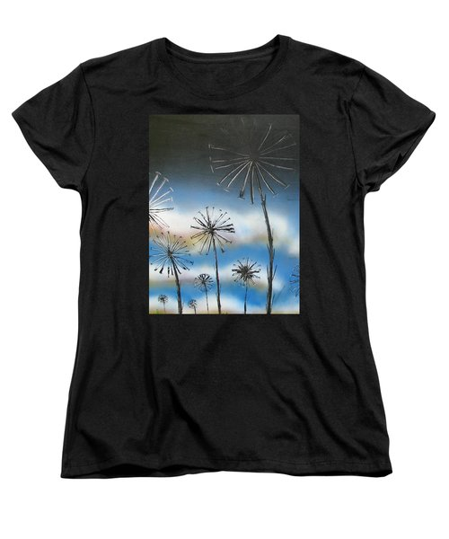 Meadow At Dawn Women's T-Shirt (Standard Fit)