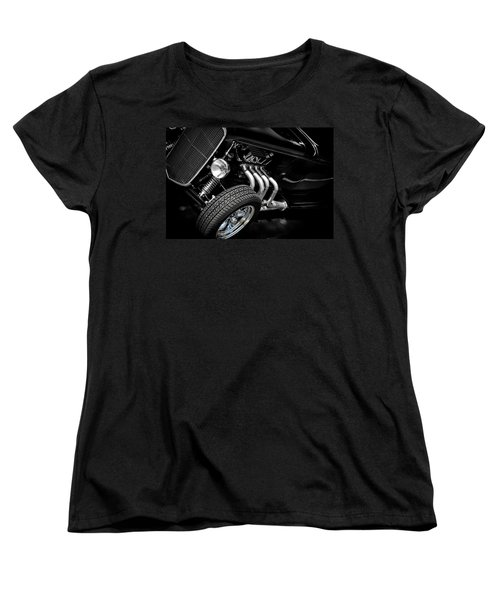 Vintage Car Women's T-Shirt (Standard Cut) featuring the photograph Mean Machine Classic by Aaron Berg