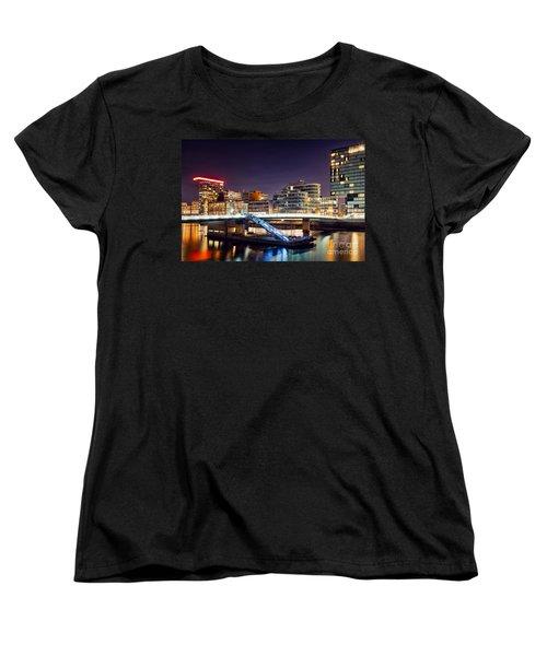 Media Harbor Dusseldorf Women's T-Shirt (Standard Cut) by Daniel Heine