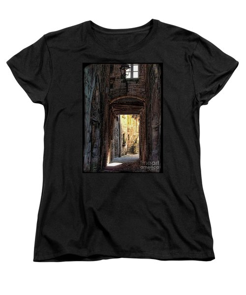 Medieval Alley Women's T-Shirt (Standard Cut) by Joan  Minchak