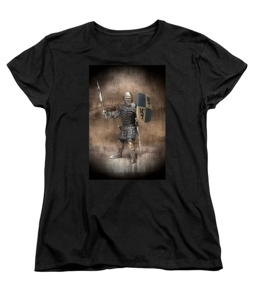 Women's T-Shirt (Standard Cut) featuring the photograph Medieval Knight by Aaron Berg