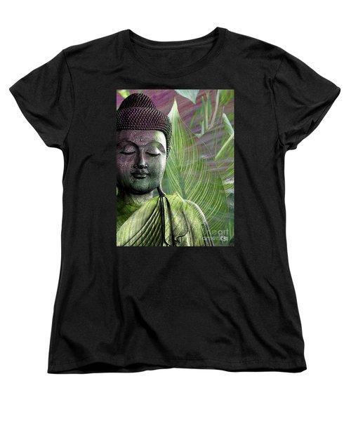 Meditation Vegetation Women's T-Shirt (Standard Cut) by Christopher Beikmann