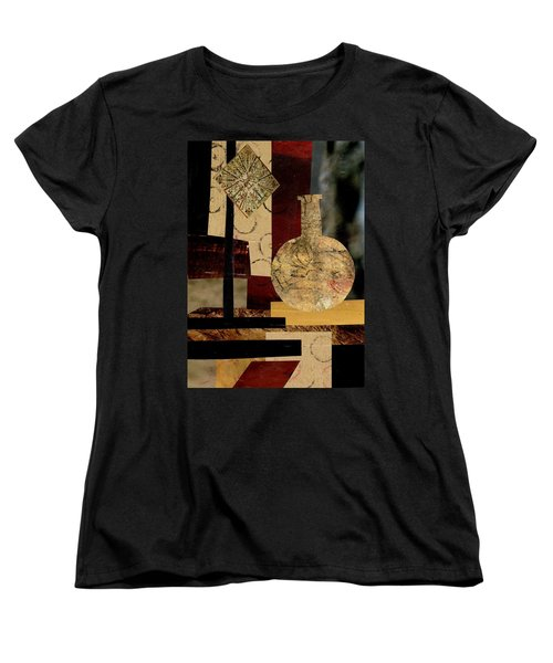 Women's T-Shirt (Standard Cut) featuring the mixed media Mediterranean Vase by Patricia Cleasby