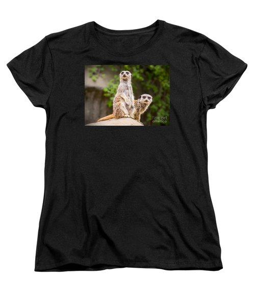 Meerkat Pair Women's T-Shirt (Standard Cut)