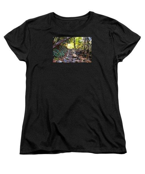 Women's T-Shirt (Standard Cut) featuring the photograph Meigs Creek Trailhead by Paul Mashburn
