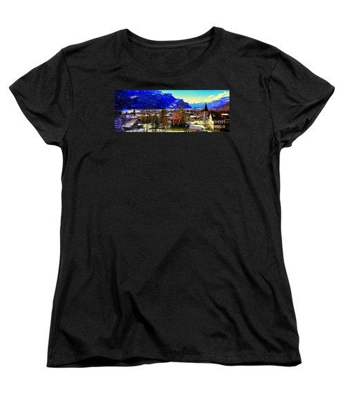Women's T-Shirt (Standard Cut) featuring the photograph Meiringen Switzerland Alpine Village by Tom Jelen