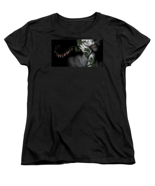 Women's T-Shirt (Standard Cut) featuring the painting Melancholy by Pat Erickson