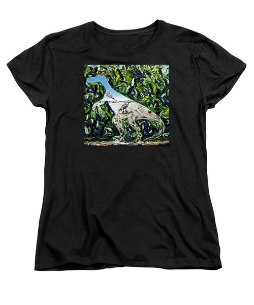 Women's T-Shirt (Standard Cut) featuring the painting Memetic Process by Ryan Demaree