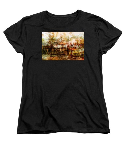 Women's T-Shirt (Standard Cut) featuring the mixed media Memories #1 by Sandy MacGowan
