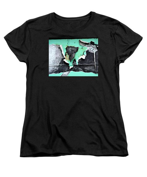 Memphis Found Art Green Good On Ya Women's T-Shirt (Standard Cut) by Steve Archbold