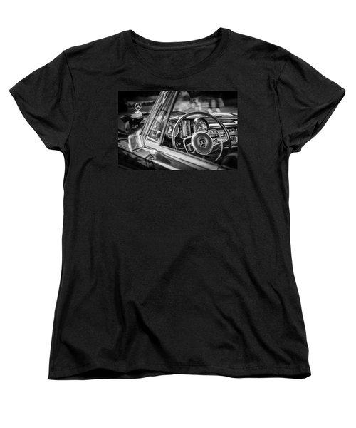 Mercedes-benz 250 Se Steering Wheel Emblem Women's T-Shirt (Standard Cut) by Jill Reger