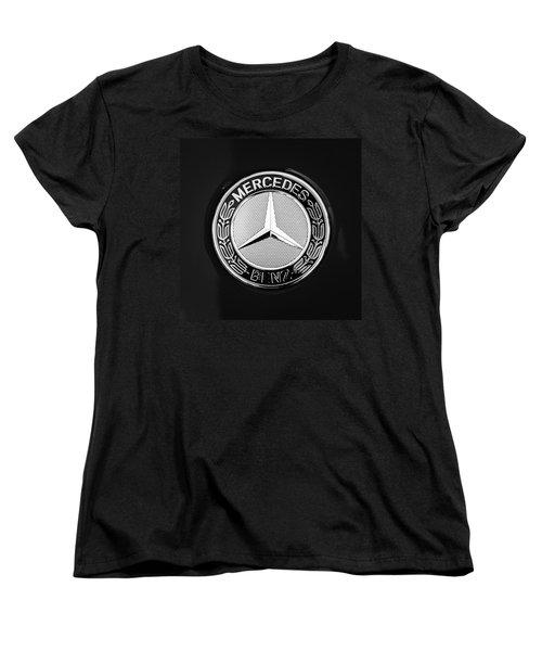 Mercedes-benz 6.3 Gullwing Emblem Women's T-Shirt (Standard Cut) by Jill Reger