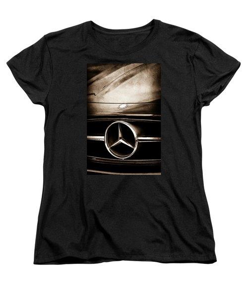 Mercedes-benz Grille Emblem Women's T-Shirt (Standard Cut) by Jill Reger