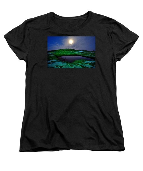 Women's T-Shirt (Standard Cut) featuring the photograph Mesa Arch In Green by David Andersen