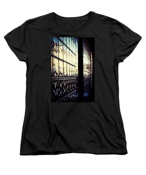 Women's T-Shirt (Standard Cut) featuring the photograph Metallic Reflections by Melanie Lankford Photography