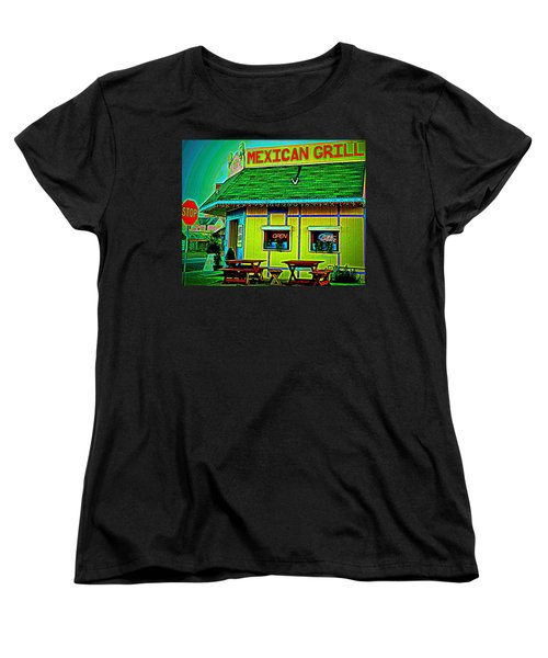 Mexican Grill Women's T-Shirt (Standard Cut) by Chris Berry