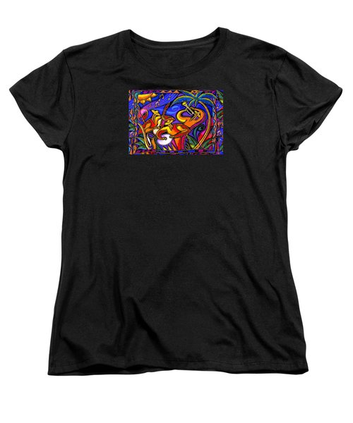 Latin Music Women's T-Shirt (Standard Cut) by Leon Zernitsky