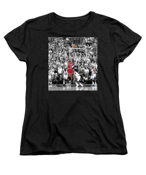 Michael Jordan Buzzer Beater Women's T-Shirt (Standard Cut) by Brian Reaves