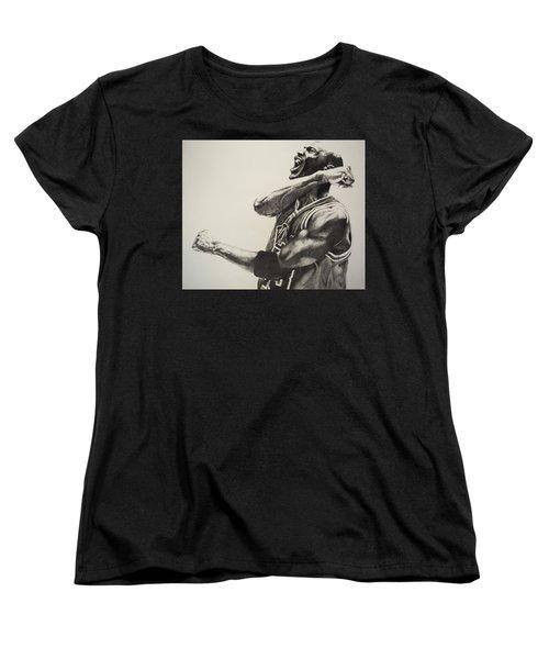 Michael Jordan Women's T-Shirt (Standard Cut) by Jake Stapleton